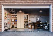 pospravljena in pripravljena garaža