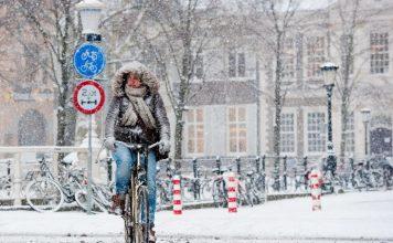 kolesarjenje nas snegu