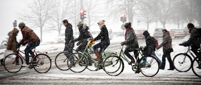 kolesarjenje v zimskih razmerah