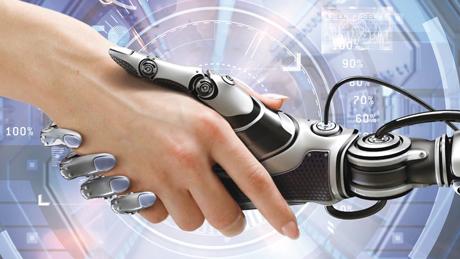 rokovanje z robotom