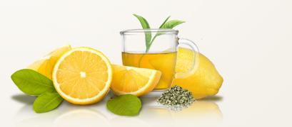 razstrupi telo z zelenim čajem z limono