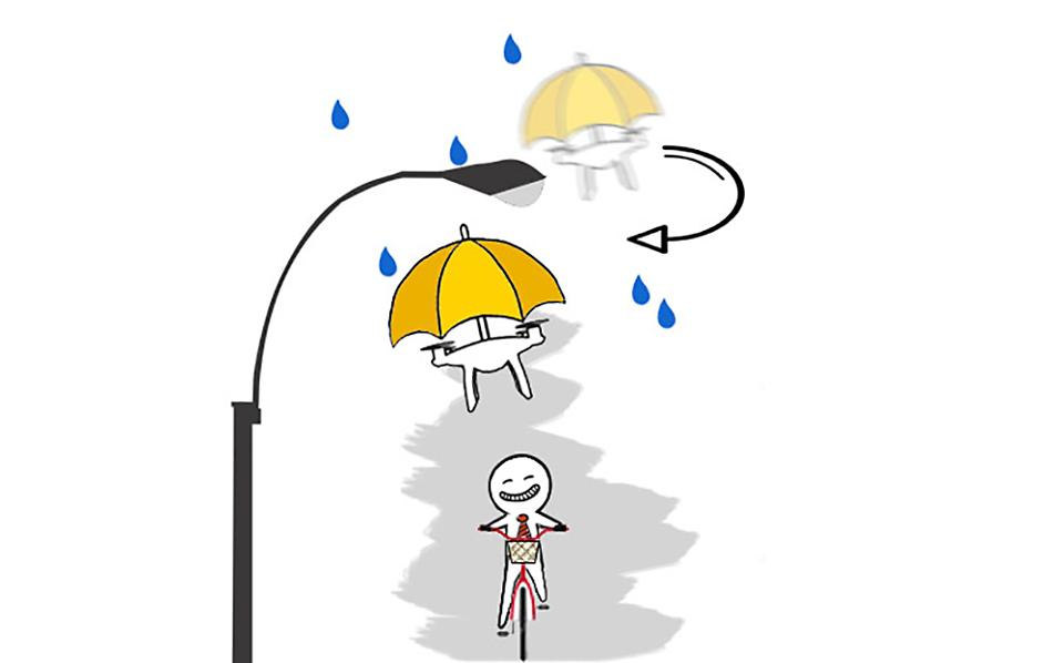 drone dežnik
