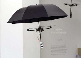 leteči dežnik - drone