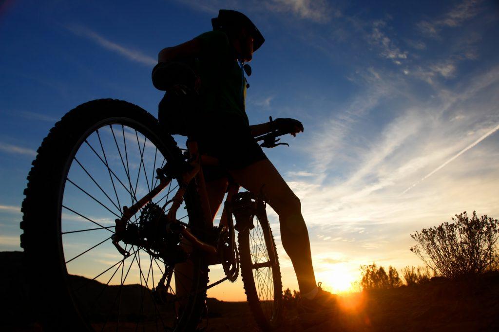 počitek ob kolesarjenju