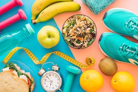 Poleg telovadbe je pomembna tudi hrana.