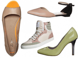 nežne barve čevljev